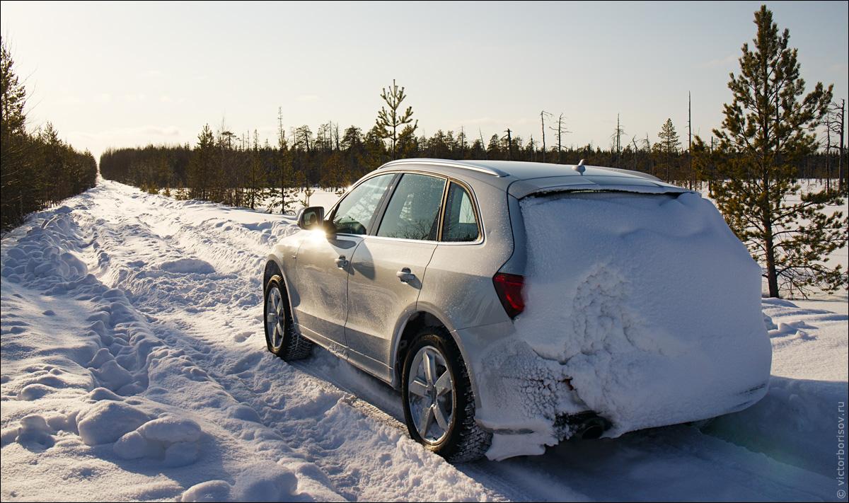 Как ездить правильно по снежной колее